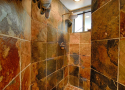 Shower in lower bath