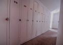 Storage lockers in hall