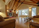 Spacious Great Room with Wood Fireplace