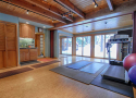 Gym with Laundry and Wet Bar